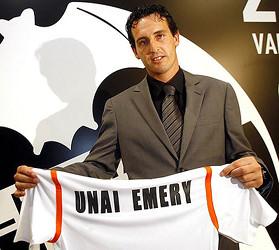 Unai Emery en su presentación como nuevo entrenador del Valencia CF