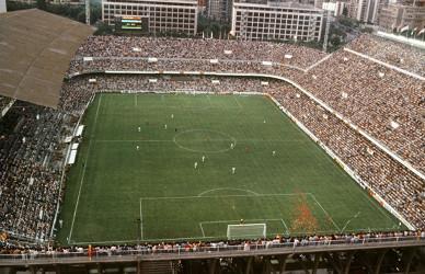 Panorámica del estadio Luis Casanova durante el partido España-Honduras, correspondiente al Mundial 82