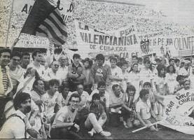 El 21 de junio de 1987, el VCF logró su objetivo de volver a Primera tras golear al Elche (5-1)